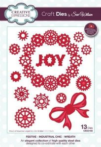 Wreath Festive Industrial Chic Die (CED3165)